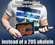 Hipsters ukulele...