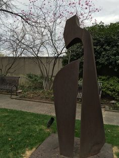 This spring's magnolias and sculpture