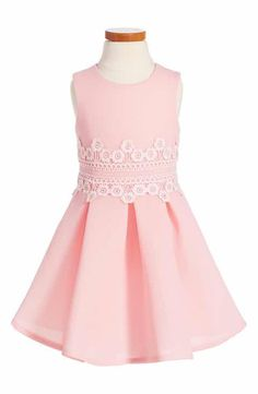 David Charles Lace Fit & Flare Dress (Toddler Girls & Little Girls)