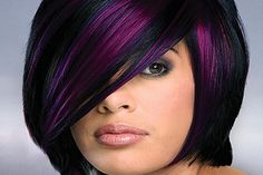Pravana Naturecutical's fall trend, Color Convertibles, is a fun, trendy way to spice up your client's style. I love the black and purple combination in this cut. If you would like to learn how to do the cut AND color, check out this blog.
