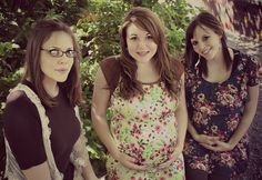 pregnant sisters picture. Although only 2 of us are pregnant.