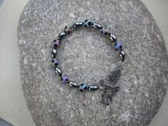 Black and Charcoal Beaded Bracelet $20