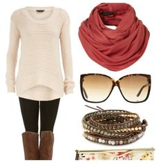 Comfy, cozy, cute fall outfit.