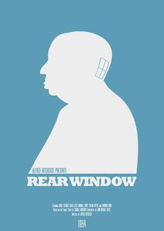 """Rear Window - Part of the Modern Hitchcock series Inspired by my love of Hitchcock films Designs include """"The Birds"""", """"Vertigo"""", """"North By Northwest"""", """"Dial M For Murder"""", """"Rear Window"""", """"Psycho"""""""