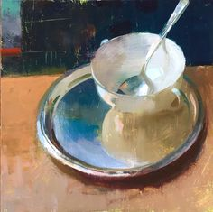 Jon Redmond place time trials with bowl and spoon oil on board Painting Still Life, Paintings I Love, Floral Paintings, Painting Lessons, Art Lessons, Tea Cup Art, Happy Tea, Still Life Artists, But Is It Art
