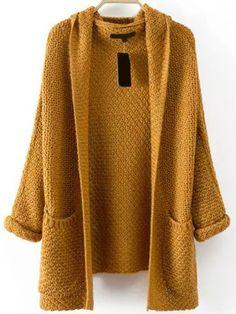 Image result for mustard knit cardigan