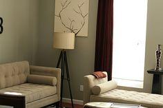 A gay grey minimalist living room