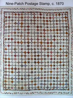 HI Everyone!!  Have you seen old quilts like this one?  Tiny nine patches...really tiny!  I love these quilts each time I see them in the ...