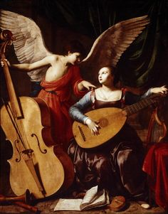 St. Cecilia and the Angel Carlo Saraceni––1610
