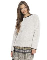 """Solid Frosty Tipped Drop Shoulder Crew   dylan – True Grit / dylan women's in color """"Oatmeal"""" $70"""