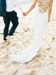 Portugal beach wedding: http://www.stylemepretty.com/destination-weddings/2015/09/11/romantic-bohemian-chic-wedding-in-portugal/   Photography: Love Is My Favorite Color - http://www.loveismyfavoritecolor.com/