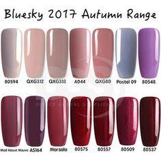 Bluesky AUTUMN RANGE 2017 UV LED Soak Off Gel Nail Polish Free Postage 10ml #bluesky nail#bluesky nail gel#bluesky nail polish#bluesky shellac#Shellac