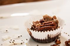Low carb superfood snack chock full of healthy fats for Trim Healthy Mamas Coconut Recipes, Healthy Dessert Recipes, Gluten Free Desserts, Low Carb Recipes, Coconut Cups, Coconut Sugar, Coconut Oil, Dark Chocolate Recipes, Homemade Chocolate