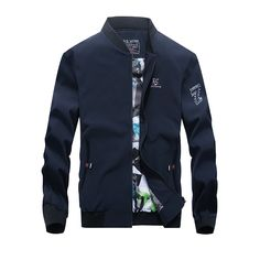 New Arrival IN-YESON Brand Casual Men Jacket Spring Autumn Windproof Embroidery Baseball Collar Men Bomber Jacket Plus Size 4XL #Affiliate