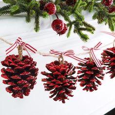 Pinecone Christmas Garland More