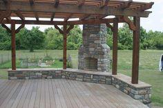 Creative Outdoor Spaces and Design Ideas #pergolafireplace #landscapingandoutdoorspaces