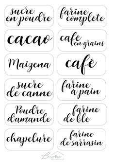 Customized Stickers And Labels Kitchen Labels, Pantry Labels, Food Labels, Printable Labels, Printables, Kitchen Pantry, Labels Free, Free Printable, Decoupage Vintage