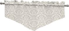 "Traditions by Waverly Duncan Damask 52"" Curtain Valance & Reviews 