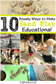 10 Sneaky Ways to Make Sand Play Educational - Crafts on Sea