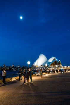 Friday Night at the Opera House, Sydney, New South Wales, Australia - Wandering the World