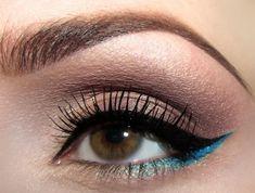 iridescent blue liner