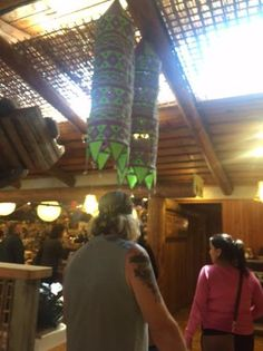 Interior view of the restaurant area, Too much fun at the Country Market with all the sculptures