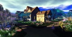 Fantasy Faire 2011 - Forest of Hedges, Sims, Fantasy, Explore, Mansions, Landscape, House Styles, Scenery, Manor Houses