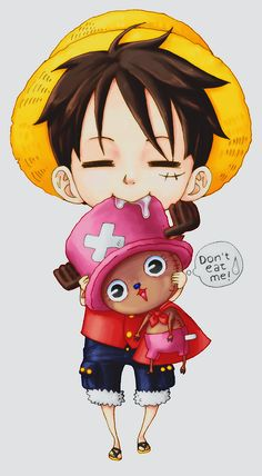 Luffy and chopper #one piece