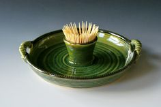 Hostess Tray / Serving Tray / Veggie and Dip by riverstonepottery, $30.00