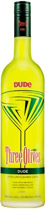 DUDE Vodka (Lemon lime flavor)Surf's Up ~1 part Three Olives® DUDE Vodka1 part Kraken Black Spiced Rum,1 part Lemon-Lime Soda.Shake first two ingredients with ice and strain into a glass.  Top with lemon-lime soda.