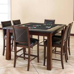 American Heritage 100726MJ Archer Collection Poker Table with Durable