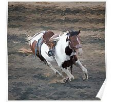 Running Rodeo Pinto Poster