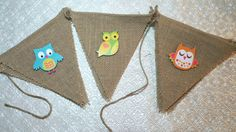 Woodland owls forest friends and flowers wood cutouts burlap banner garland birthday party baby shower gender reveal anniversary retirement sweet sixteen bridal graduation quinceanera new baby nursery decor Pennant Banners, Forest Friends, Baby Shower Gender Reveal, Wood Cutouts, Baby Nursery Decor, Favor Bags, Baby Shower Parties, Hand Stamped, Garland