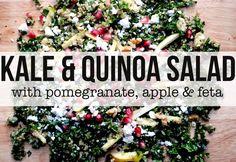 Kale & Quinoa Salad With Pomegranate, Apple & Feta   TANGERINE CANTEEN