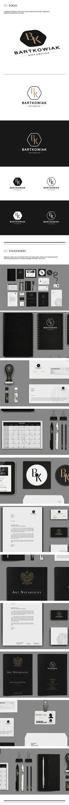 Notary K.Bartkowiak Logo and Brand Identity part 2 by Marcin Wisniewski via behance