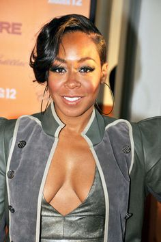 'Happily Divorced's' Tichina Arnold Ties The Knot Wedding Hairstyles, Cool Hairstyles, Hairstyle Ideas, Wedding Hair Front, Wedding Stuff, Tichina Arnold, Front Hair Styles, African American Weddings, Cut Life
