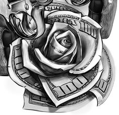 80 Money Rose Tattoo Designs For Men Cool Currency Ink Random