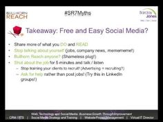 Social Recruiting: Debunking 7 Common Myths and Misconceptions webinar - insight and tips for recruiters