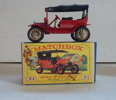 """Matchbox 1911 Model T Ford Y1 """"Models of Yesteryear"""", 1964 release"""