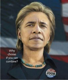 This is what Barack Obama would look like if Bruce Jenner inspired him to become a women.