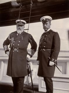 King Edward VII and Emperor Nicholas II on board the Russian Imperial Yacht Standart, June 1908 [[MORE]] This meeting took place on board the Russian Imperial Yacht Standart a year after the signing...