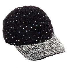Sequin Crystal Rhinestone Studded Baseball Cap Hat