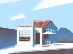 Cafe De Leche  by Down the Street Designs #Design Popular #Dribbble #shots