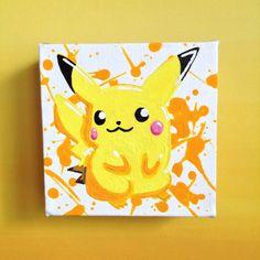 Pokémon Pikachu Original Painting 4 Acrylic by HereComesTheNerd