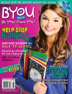 A.N.T. Farm's Stefanie Scott on the cover of BYOU Magazine