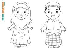 Paper Puppet Doll_Muslim Family_Mom_Dad