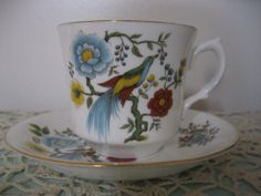 Vintage Arklow Ireland Cup and Saucer Bird  by Sisters2Vintage, $22.00