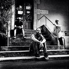 @bravworld and his #band #larochelle #rockinloft #portrait #music #men #photography #goodtime #analog #argentique #rolleicord #kodak #400tmax #ishootfilm #filmisnotdead #believeinfilm #bw #blackandwhite #brav