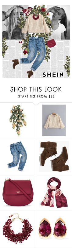 """berry good"" by sierrrrrra ❤ liked on Polyvore featuring Niki Taylor, Madewell, Kate Spade, Vince Camuto, Rosantica and Fernando Jorge"
