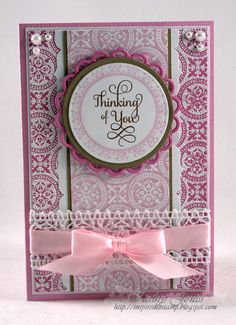 Inspired to Stamp: Thinking of You! card designed by Kathy Jones